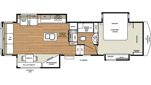 2020 Riverstone Legacy 34SLE Floor Plan