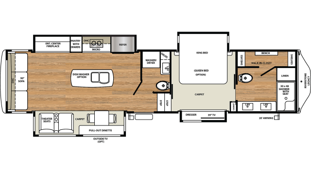 2020 Riverstone Legacy 38FB2 Floor Plan