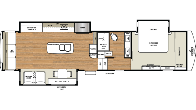 2020 Riverstone Legacy 38MB Floor Plan