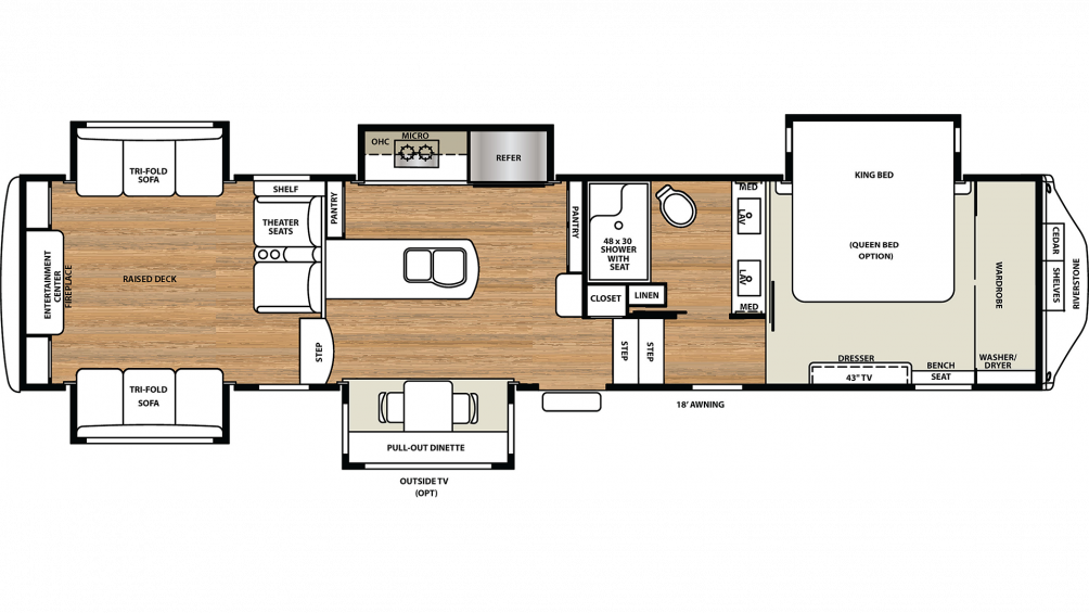 2020 Riverstone Legacy 38RE Floor Plan Img