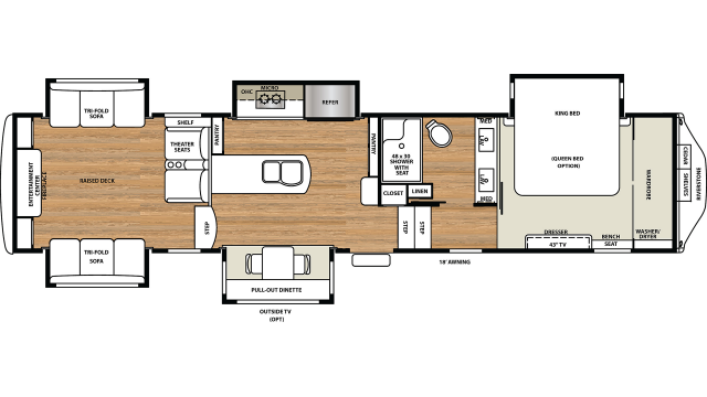 2020 Riverstone Legacy 38RE Floor Plan
