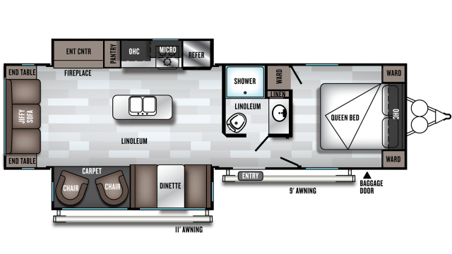 2020 Salem 27RE Floor Plan