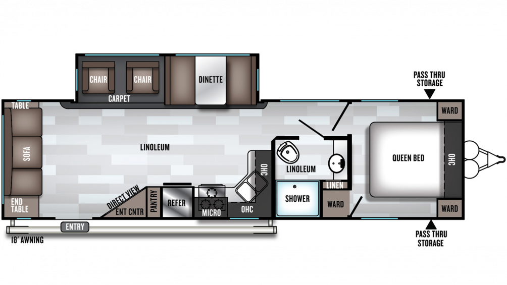 2020 Salem 28RLSS Floor Plan Img