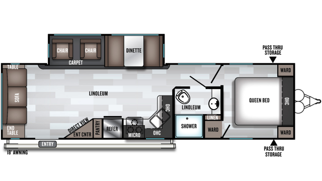 2020 Salem 28RLSS Floor Plan