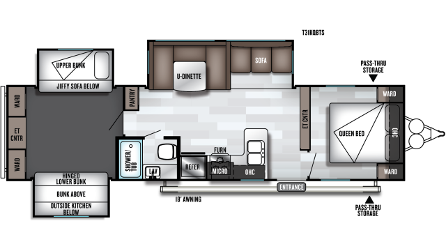 2020 Salem 31KQBTS Floor Plan