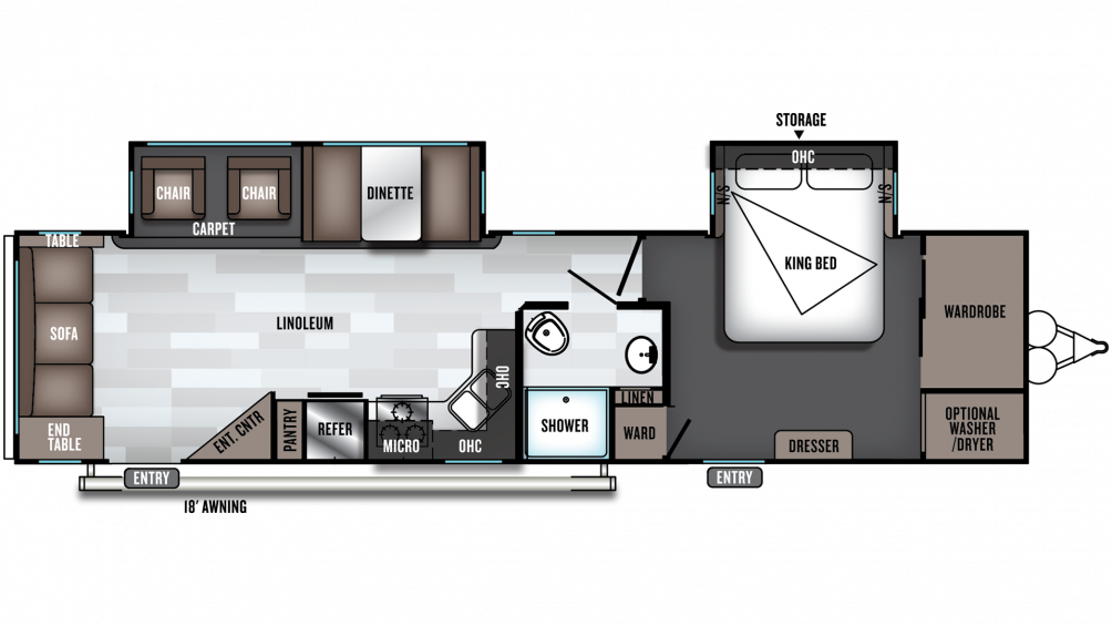 2020 Salem 32RLDS Floor Plan Img