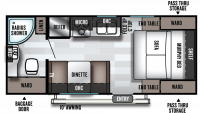 2020 Salem Cruise Lite 171RBXL Floor Plan