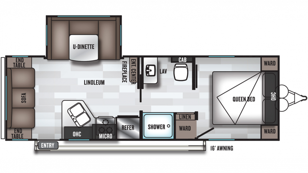 2020 Salem Cruise Lite 24RLXL Floor Plan Img