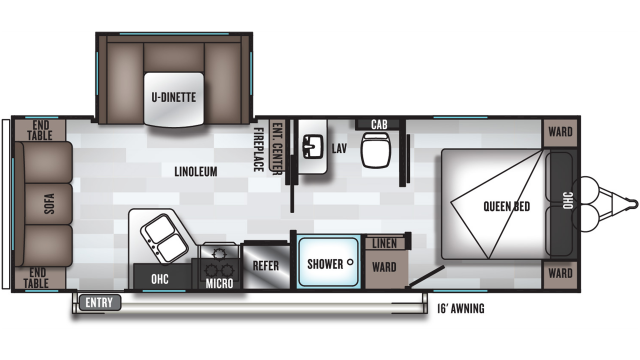 2020 Salem Cruise Lite 24RLXL Floor Plan