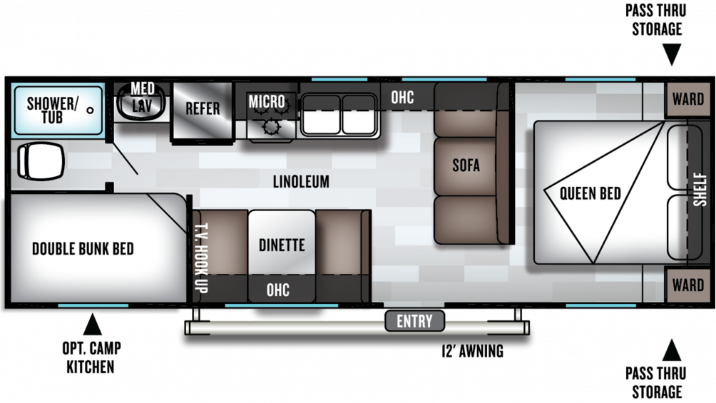 2020 Salem Cruise Lite 261BHXL Floor Plan Img