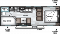 2020 Salem Cruise Lite 261BHXL Floor Plan