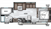2020 Salem Cruise Lite 263BHXL Floor Plan