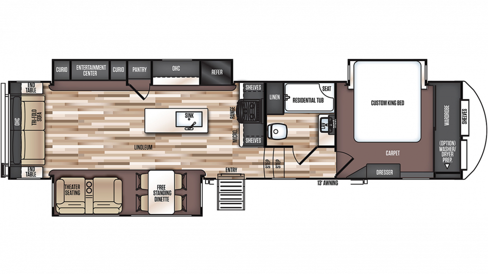 2020 Salem Hemisphere 337BAR Floor Plan Img