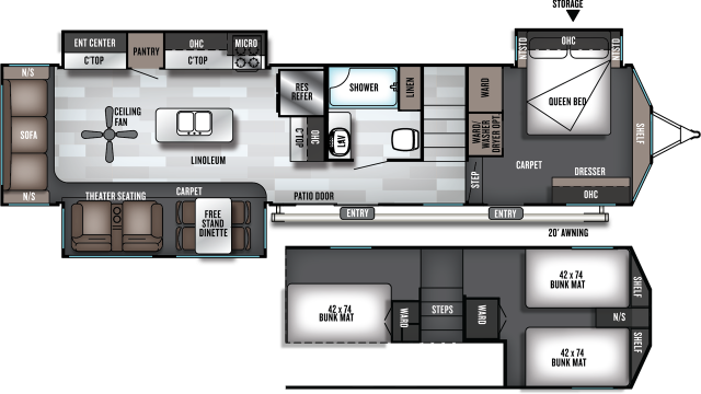 2020 Salem Villa Grand 42DL Floor Plan