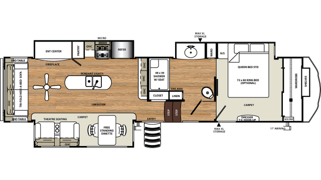 2020 Sandpiper 357RE Floor Plan