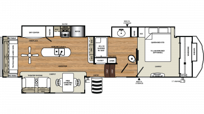 2020 Sandpiper 357RE Floor Plan Img