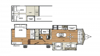 2020 Sandpiper Destination 399LOFT Floor Plan