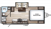2020 SolAire Ultra Lite 205SS Floor Plan