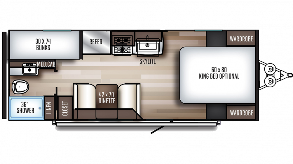2020 SolAire Ultra Lite 211BH Floor Plan Img