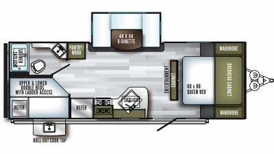 2020 SolAire Ultra Lite 240BHS Floor Plan Img
