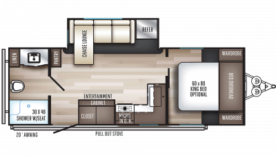 2020 SolAire Ultra Lite 249RBS Floor Plan Img