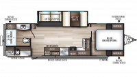2020 SolAire Ultra Lite 258RBSS Floor Plan