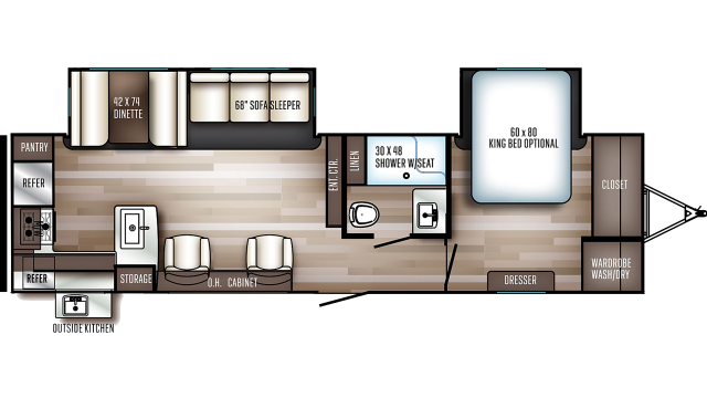 2020 SolAire Ultra Lite 304RKDS Floor Plan