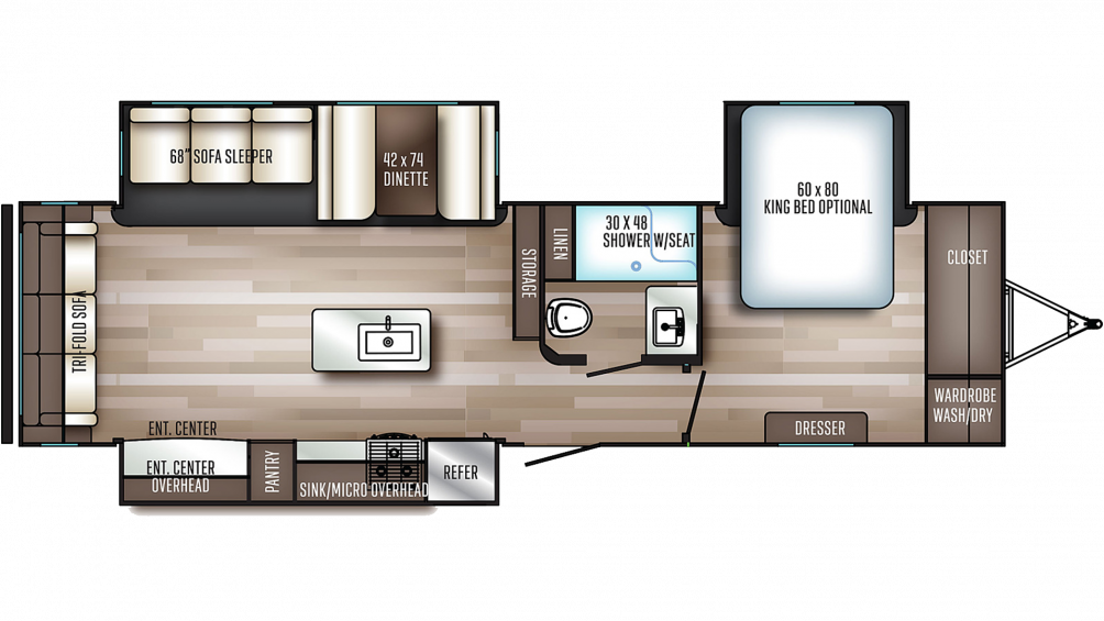2020 SolAire Ultra Lite 316RLTS Floor Plan Img