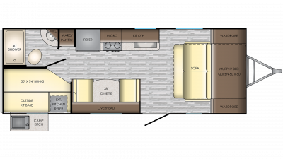 2020 Sunset Trail 215BH Floor Plan Img