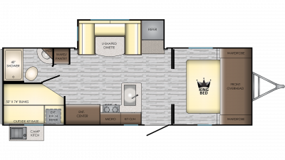 2020 Sunset Trail 242BH Floor Plan Img
