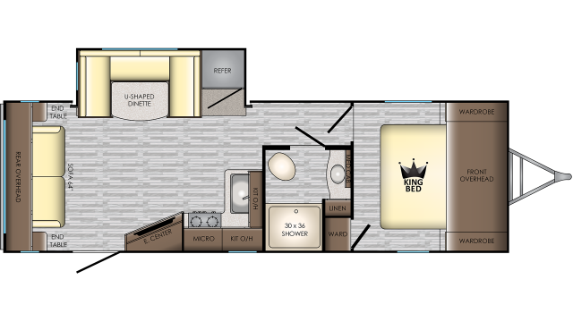 2020 Sunset Trail 259RL Floor Plan