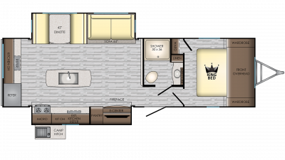 2020 Sunset Trail 285CK Floor Plan Img