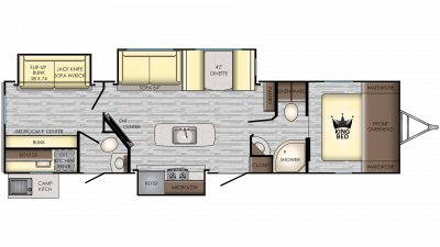 2020 Sunset Trail 331BH Floor Plan Img