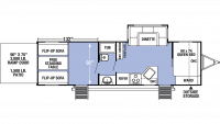 2020 XLR Micro Boost 27LRLE Floor Plan