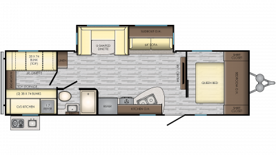 2020 Zinger ZR290KB Floor Plan Img