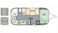 2019 Airstream Flying Cloud 19CB Floor Plan