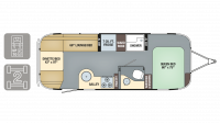 2019 Airstream Flying Cloud 25FB Floor Plan