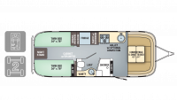 2018 Airstream Flying Cloud 26RB TWIN Floor Plan