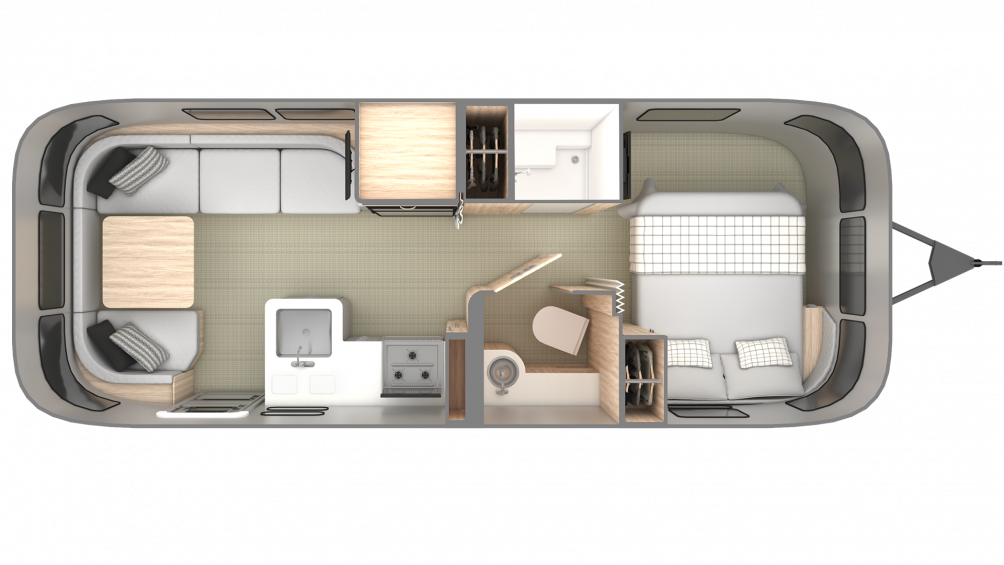 2019 Airstream Globetrotter 25FB Floor Plan Img