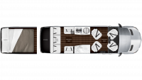 2019 Airstream Interstate EXT LOUNGE Floor Plan