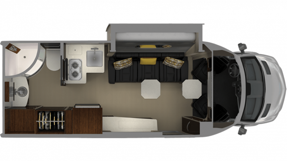 Airstream Atlas Murphy Suite Floor Plan - 2020