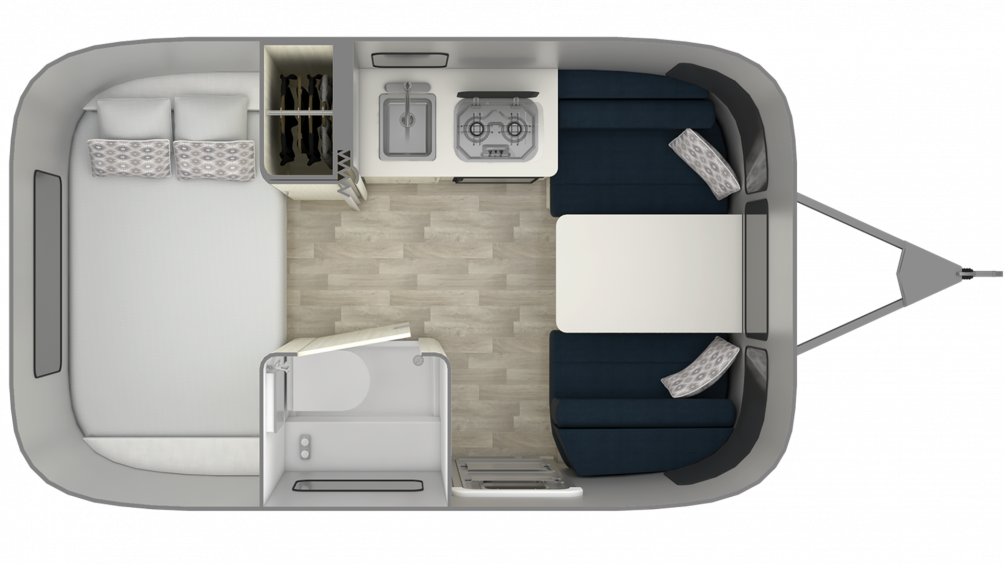 Airstream Bambi 16RB Floor Plan - 2020