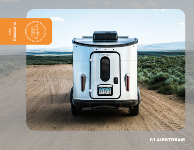 2018 Airstream Basecamp Brochure Cover