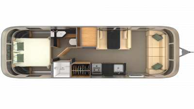 2019 Airstream Classic 30 Floor Plan Img