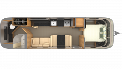 Airstream Classic 33 Floor Plan - 2020