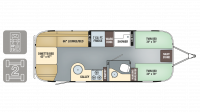 2019 Airstream Flying Cloud 25FB TWIN Floor Plan