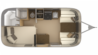 2019 Airstream Flying Cloud 19CB Floor Plan Img