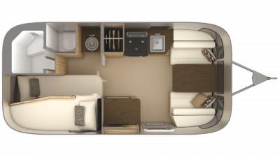 2019 Airstream Flying Cloud 19CB BUNK Floor Plan Img