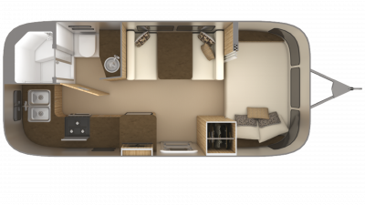 2019 Airstream Flying Cloud 20FB Floor Plan Img