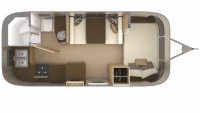 2019 Airstream Flying Cloud 20FB Floor Plan